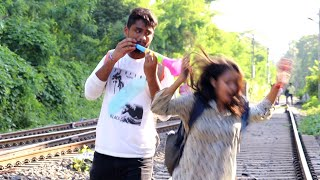 Train Horn Prank on Cute Girls part-2😲😲 Prank Gone Wrong | PrankBuzz