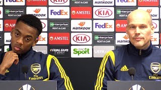 Freddie Ljungberg & Jo Willock Pre-Match Press Conference - Standard Liege v Arsenal - Europa League