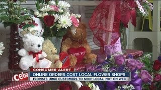 Online orders cost local flower shops