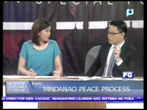 Part 1: Mindanao Peace Process - PTV Special Forum [Oct. 19, 2012]