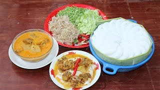 Amazing Cooking Chicken Curry With Traditional Khmer Noodle  -  Chicken Curry  -Village Food Factory