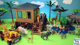 Playmobil Safari Animals Adventure Playset Build and Play - Fun Toys For Kids