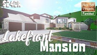 Bloxburg Build || Lakefront Mansion | Roblox [Part 1/2]
