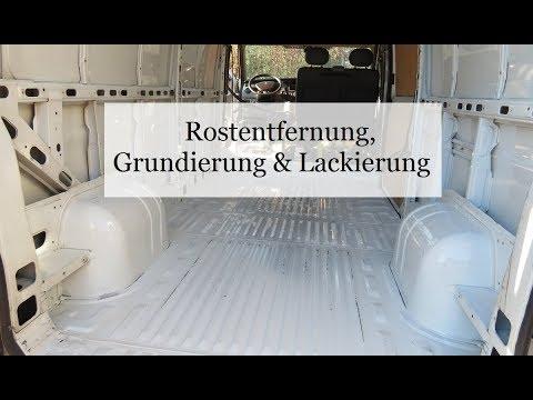 Folge 2 - Rostentfernung, Grundierung, Lackierung | Campervan Wohnmobil Selbstausbau