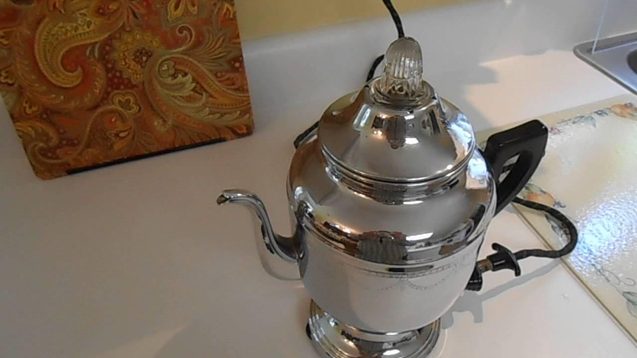 maxresdefault farberware no 208 1940's vintage electric percolator demo of it
