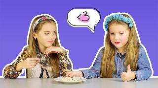 Дети пробуют вегетарианскую еду