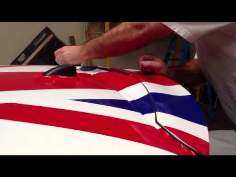 Mini Cooper Wrap >> Mini Cooper Roof Wrap Union Jack - YouTube