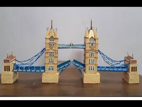 London Tower Bridge Model Making | How To Make London Bridge | Miniature London Tower Bridge