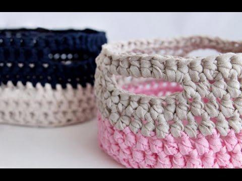 КАК СВЯЗАТЬ КОРЗИНУ КРЮЧКОМ.How to crochet basket .