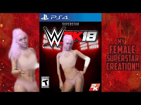 WWE 2K18 - MY ONLINE FEMALE SUPERSTAR CREATION!!!