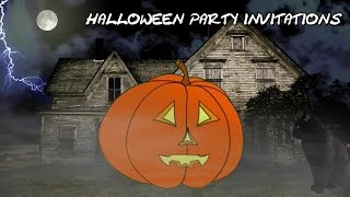 Halloween Party Invitation Video Templates - The Talking Pumpkin Will Announcement Your Party