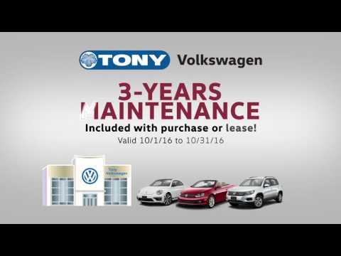Tony Volkswagen Special Offers, October 2016