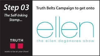 The Ellen Show Campaign - Step #3: The Self-Inking Stamp | TruthBelts Vegan Belts & Fashion Thumbnail