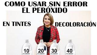 USOS DEL PEROXIDO EN EL TINTE Y DECOLORANTE 10,20,30,Y 40 FÁCIL.