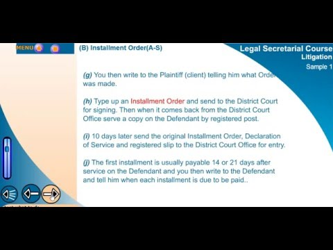 e-learning Demo Video of Legal secretarial Training Course