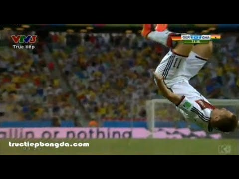 Pha Ăn Mừng Bàn Thắng Của Miroslav Klose trong World Cup 2014 giữa Đức - Ghana