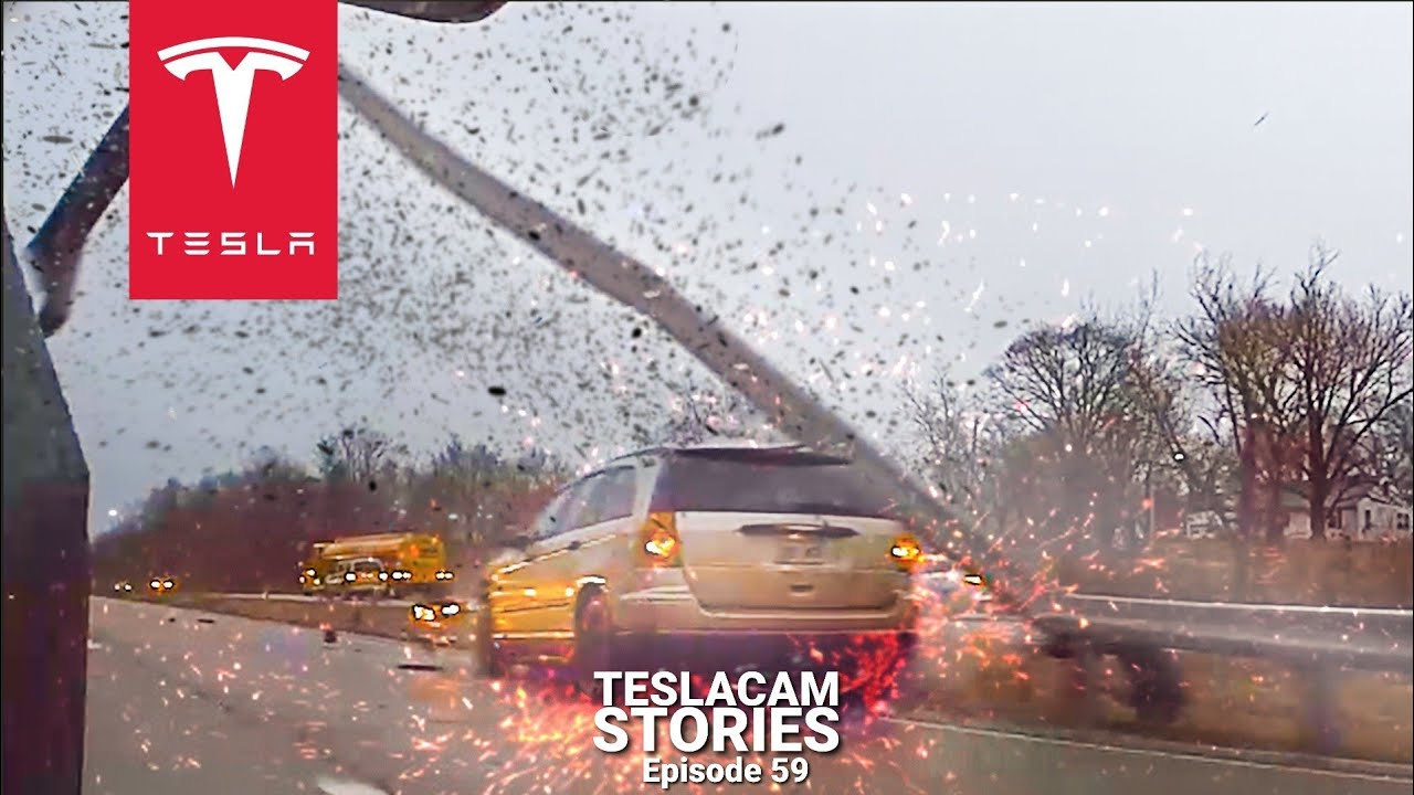 WINTER STORM CAR CRASH COMPILATION | TESLACAM STORIES #59