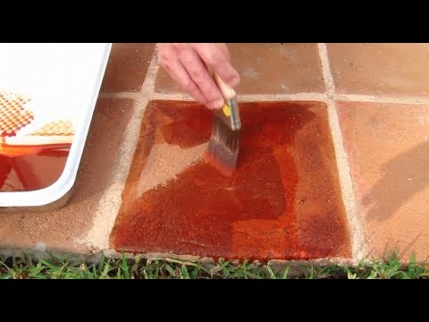 How To Stain Patio Pavers Youtube
