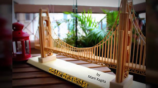 How to do miniature Golden Gate bridge model with sticks. Step by step tutorial