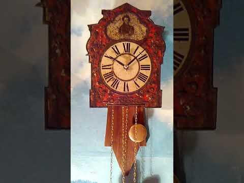 Настенные часы ходики А. С. Пушкин, с боем, дореволюционные