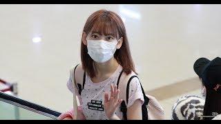 18일 서울 강서구 김포국제공항으로 출국하는 HKT48 미야와키 사쿠라(宮...