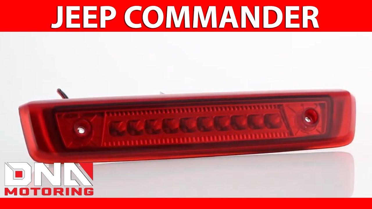 Dna Motoring 06 10 Jeep Commander Led Red Third Brake Light