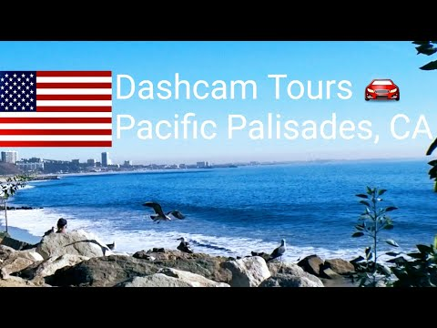 Dash Cam Tours 🚘 Driving in Pacific Palisades on Sunny December Day