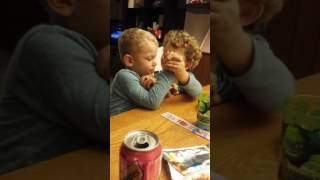 Twin helps brother with CP