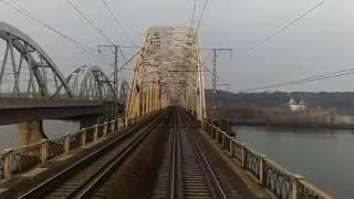 Днепр вид из кабины поезда