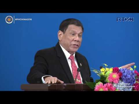 Philippine-China Trade and Investment Forum (Speech) 10/20/2016
