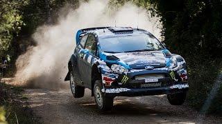 Ken Block and Alex Gelsomino test for WRC Spain 2014