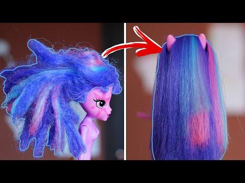 Как распутать волосы кукле