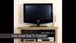 Oslo Solid Oak Tv Cabinet