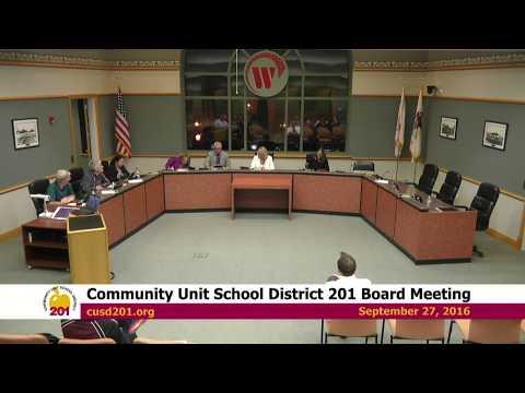 2016-09-27 Community Unit School District 201 Board Meeting