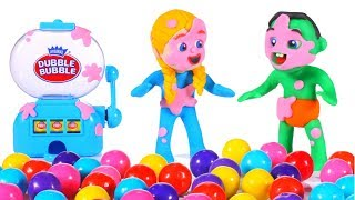 Kids Playing With A Gumball Machine 💕 Cartoons For Kids