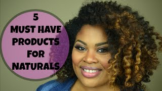 5 Must Have Products for Natural Hair