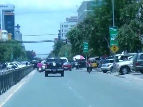On Monivong Blvd, Phnom Penh City, The Capital of Cambodia, Asian Travel and Tours