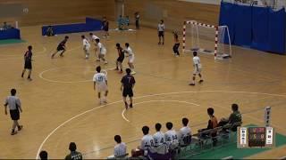 20180728 男子ハンドボール 2回戦 加治木工鹿児島県対 法政二神奈川県スポーツの杜鈴鹿