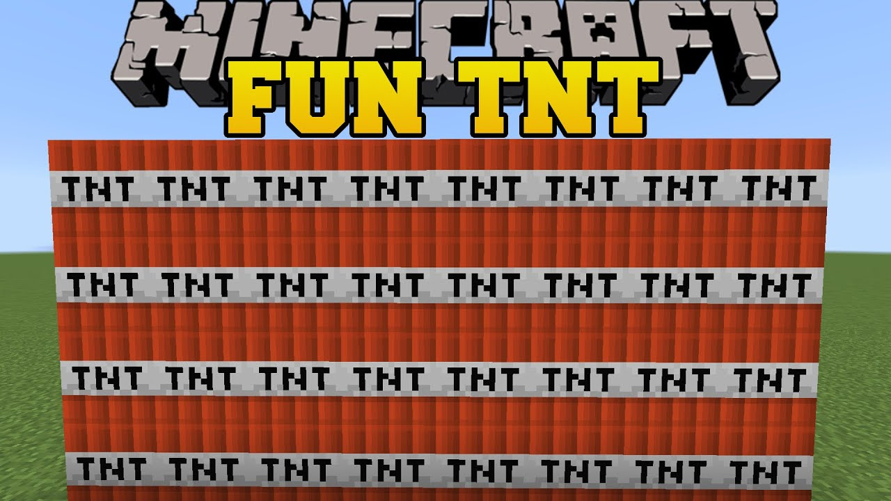 Minecraft: FUN TNT! (GRAVITY TNT,  INFINITE TNT, & ROBIN HOOD TNT!) Custom Command