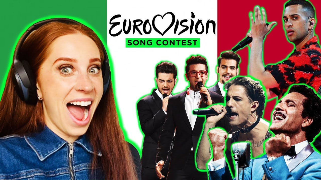 REACTING TO ITALY IN THE EUROVISION SONG CONTEST 1956-2021