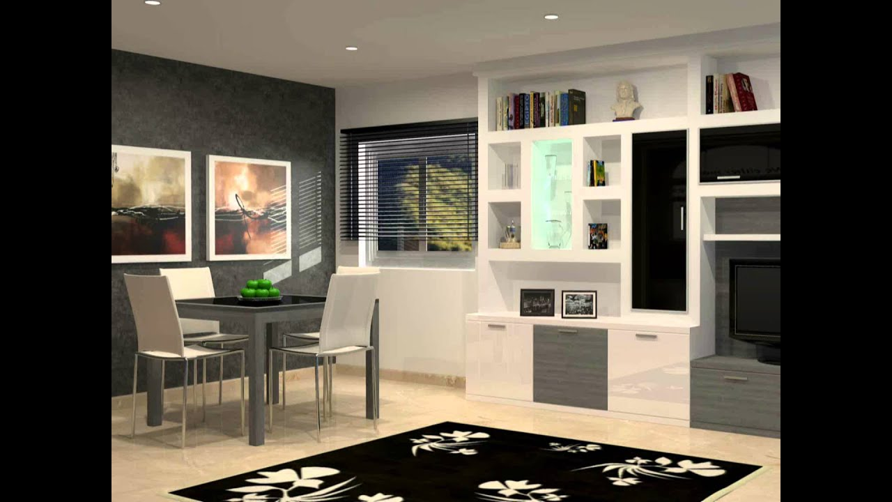 Mueble de sal n moderno ibicenco youtube for Como disenar un mueble de salon