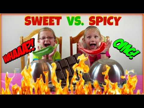 SWEET vs SPICY CHALLENGE - Magic Box Toys Collector