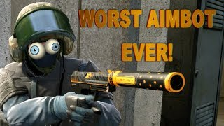 WORST AIMBOT EVER! Did he Pay for this? CS:GO OVERWATCH