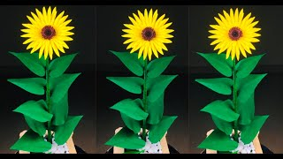 Paper Flowers | Paper Crafts For School | Paper Craft | Sunflower Craft | Paper Sunflower Making