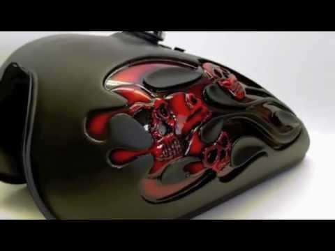 Disciplined1designs Quot 3d Flames Amp Skulls Tank Quot Youtube