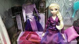 미국 디즈니 스토어 겨울왕국 2 엘사의 방 드레스 침대…