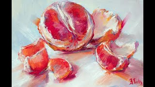 How to paint a Grapefruit in oil