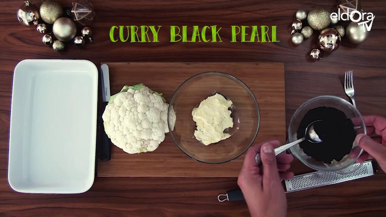 Chou-fleur rôti, caramélisé aux amandes et aux épices, crème de Gruyère au caviar