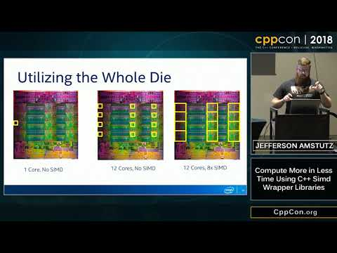 "CppCon 2018: Jefferson Amstutz ""Compute More in Less Time Using C++ Simd Wrapper Libraries"""
