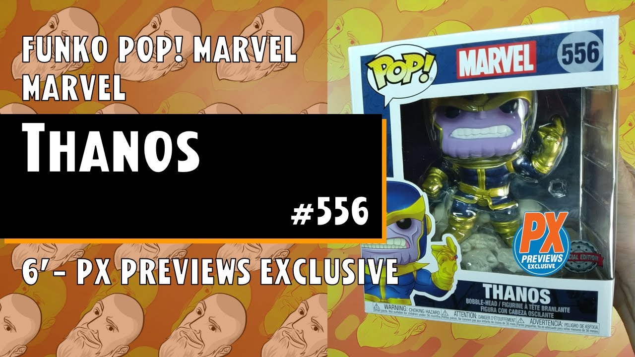 Funko Pop Marvel THANOS Snap 6-Inch PX PREVIEWS #556 Pop Vinyl Figure NEW /& IN